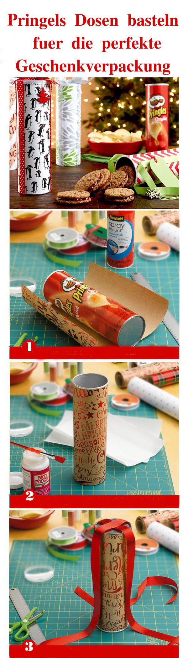 Pringles Dosen basteln für das perfekte Weihnachtsgeschenk