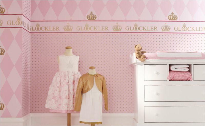 Kinderzimmer Tapeten Ideen rosa romantisch