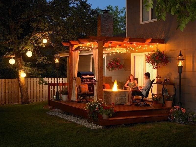 Terrassenbeleuchtung sorgt für Entspannung