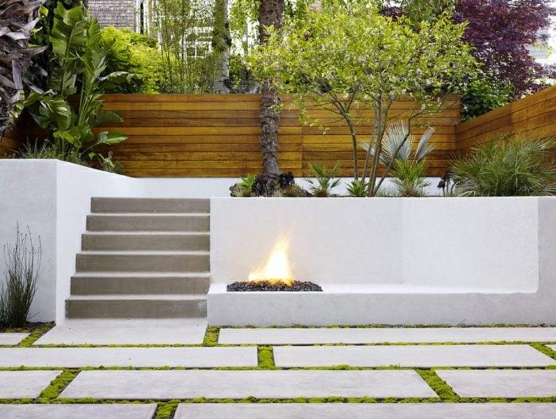 Gartengestaltung modern terrassiert