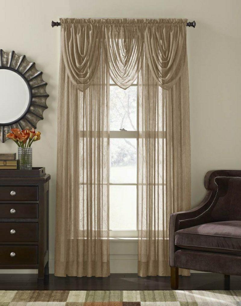 Gardinen Wohnzimmer romantischer Vintage Look