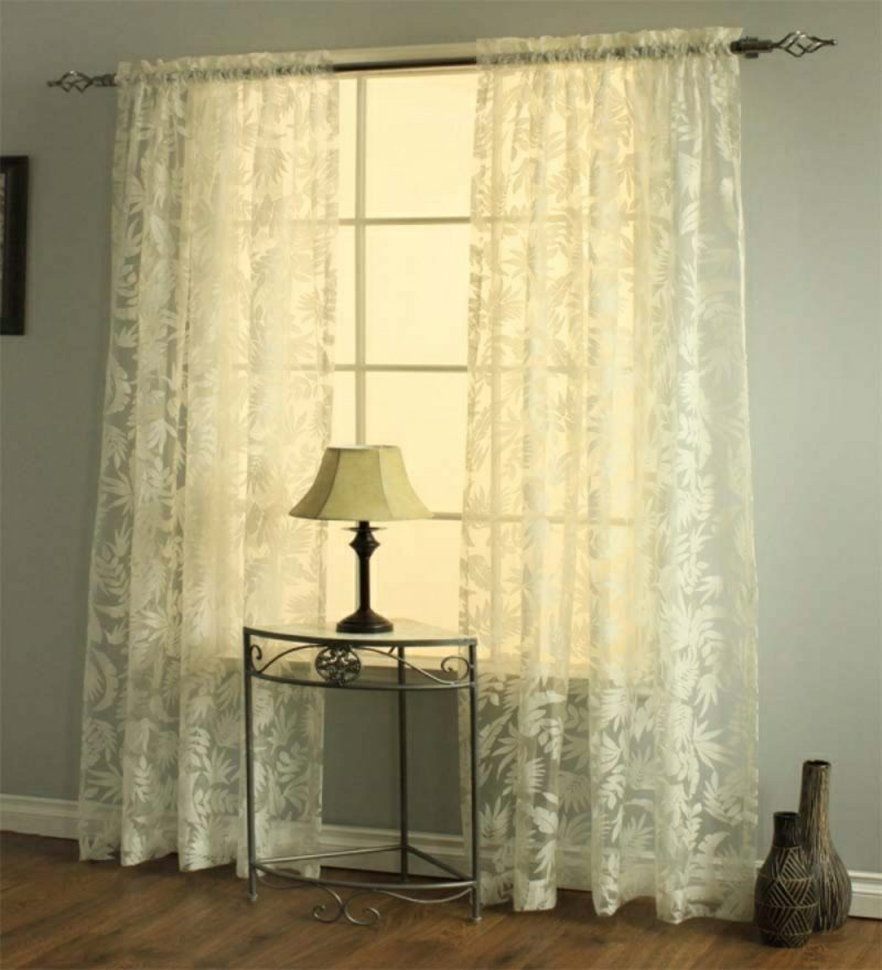 Gardinen Wohnzimmer transparent originelle Muster