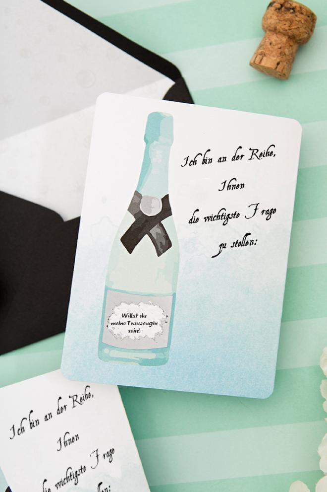 Rubbelkarte selber machen, als Trauzeugin Fragen Geschenk: Willst du meine Trauzeugin sein?