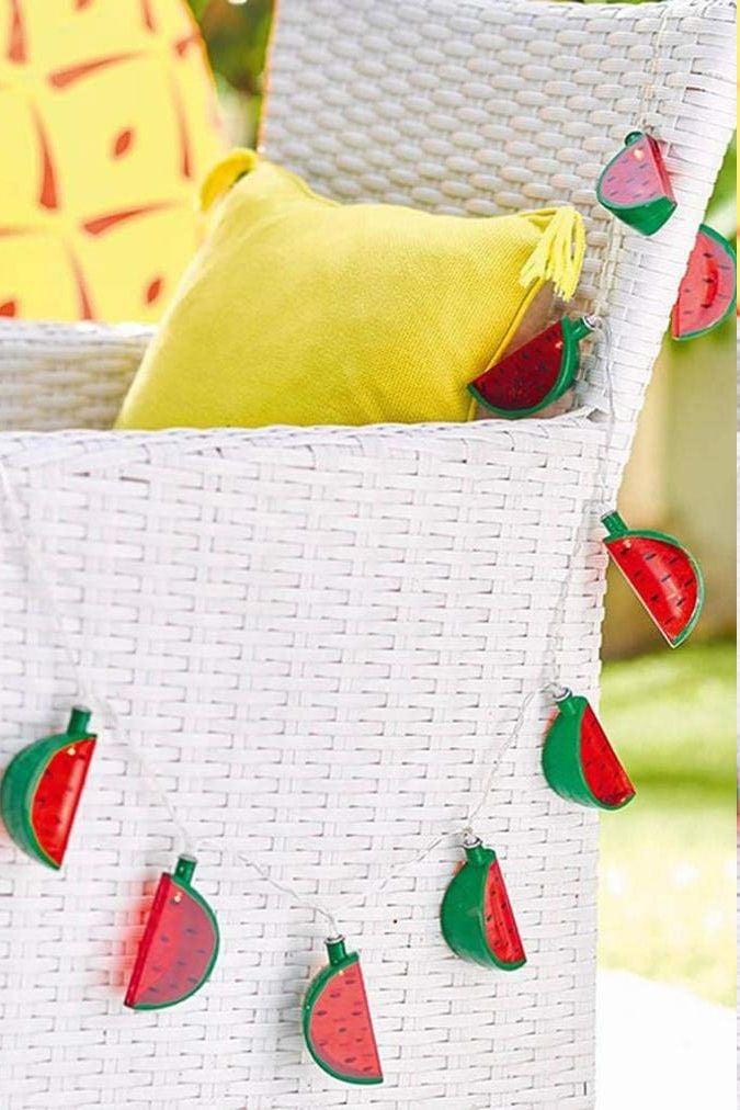 Wohnideen für den Garten: Wassermelonen-Accessoires