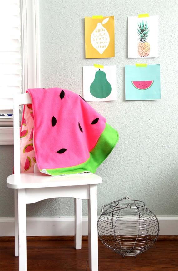 DIY Wohnideen: Wassermelone Vorlagen zum Herausladen