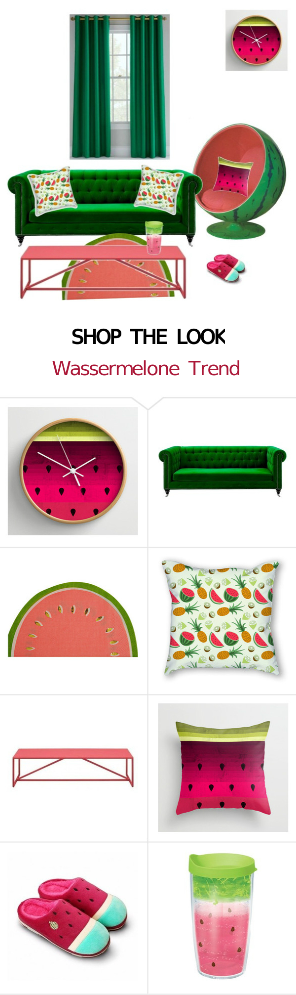 Shop the Look: Wohnungsideen mit Wassermelone