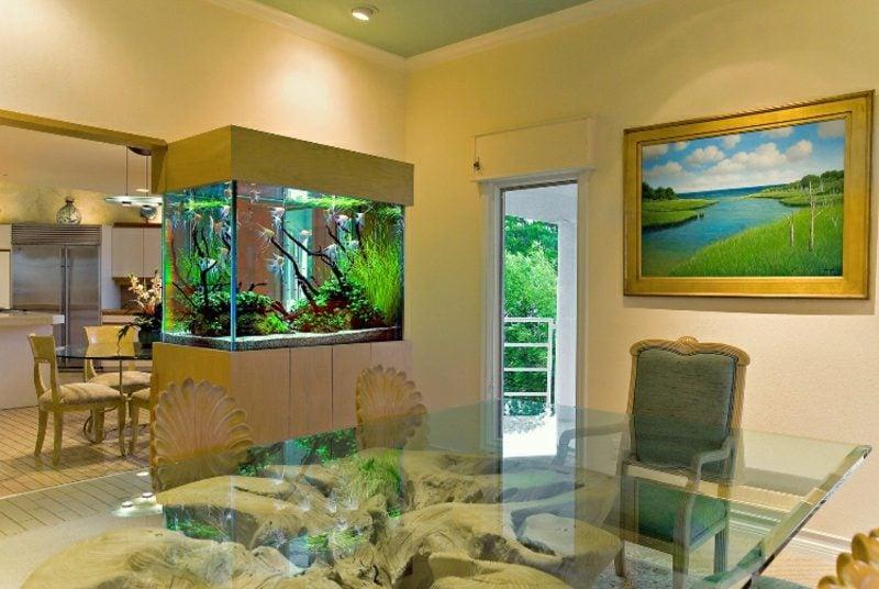Aquarium Deko Blickfang Wohnzimmer