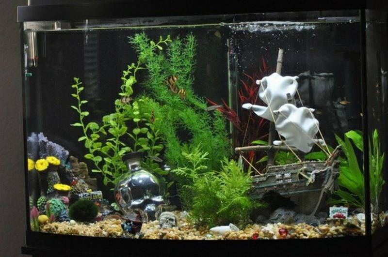 Aquarium Deko Schiff versunken