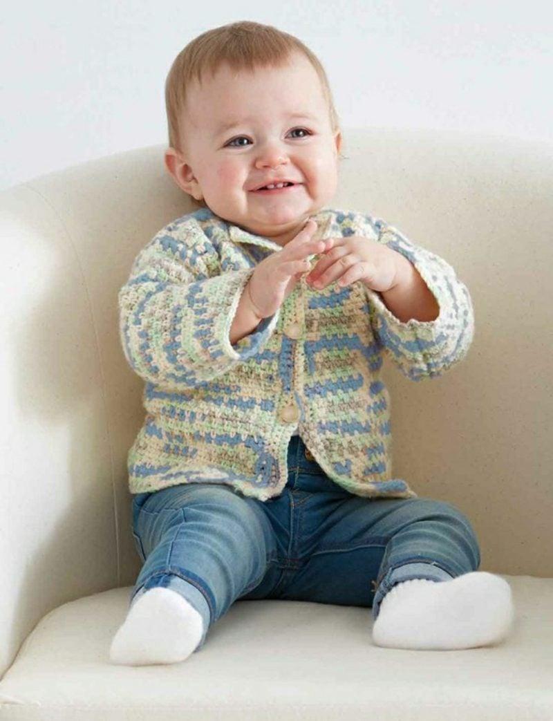 Baby Pullover stricken Pastellfarben
