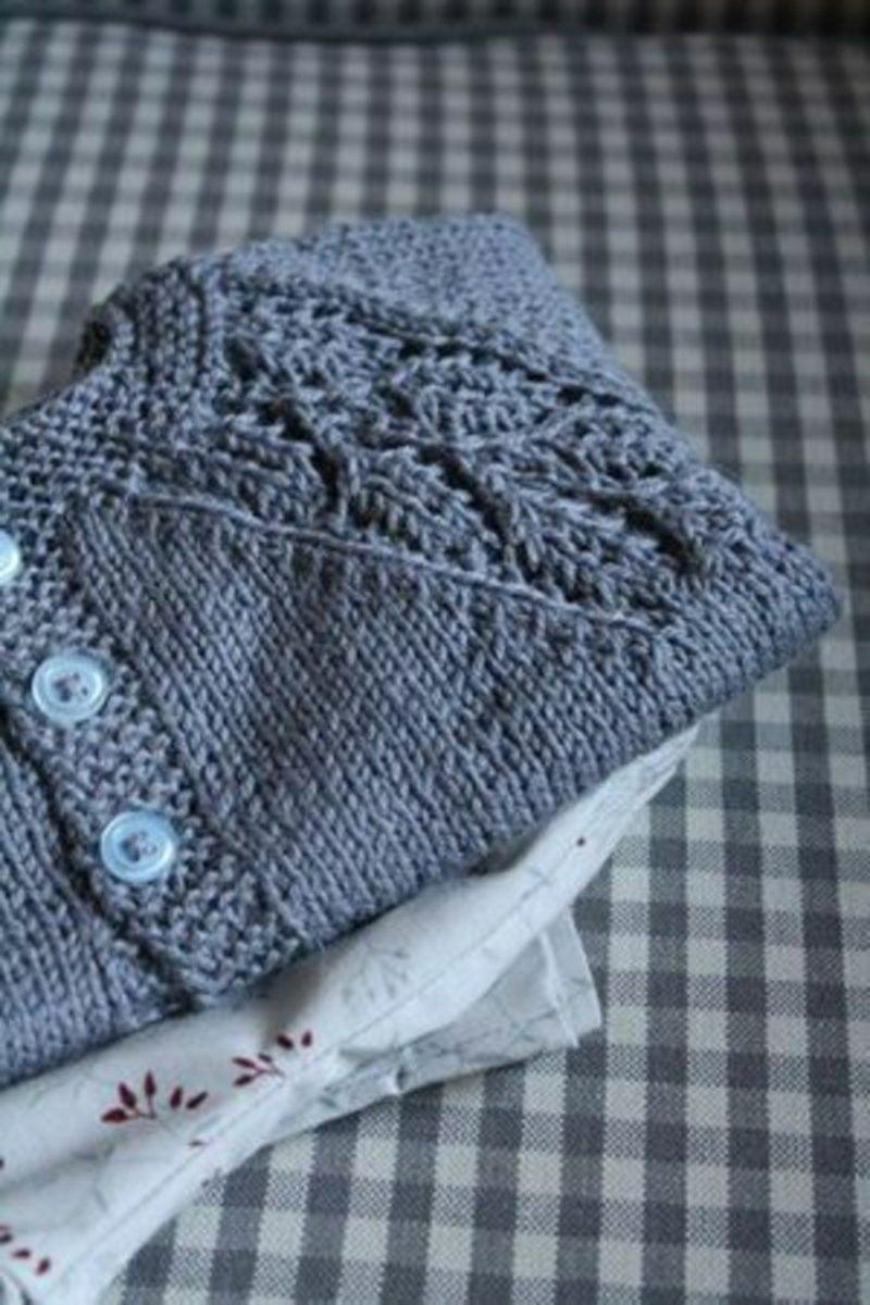 Baby Pullover stricken dunkelblau herrlicher Look