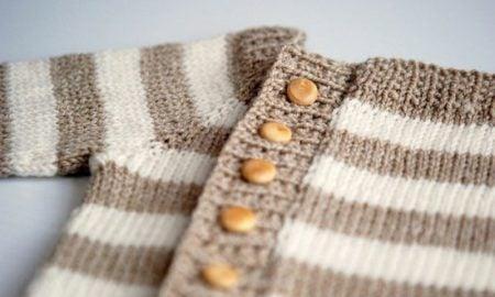 Baby Pullover stricken gestreift