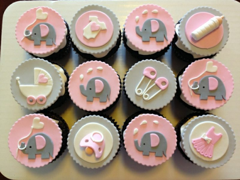 Babyparty Deko Cupcakes selber backen