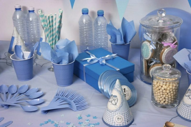 Babyparty Deko Junge Farbschema Blau