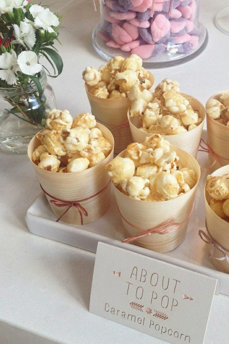Babyparty Deko Karamel Popcorn