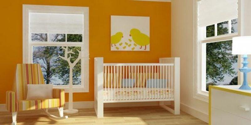 Kinderzimmer streichen warme Farben Orange