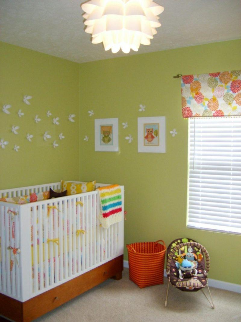 Kinderzimmer streichen Senfgelb