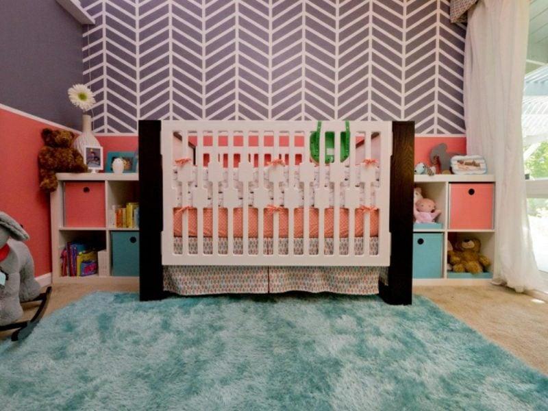 Kinderzimmer streichen Zick Zack Muster