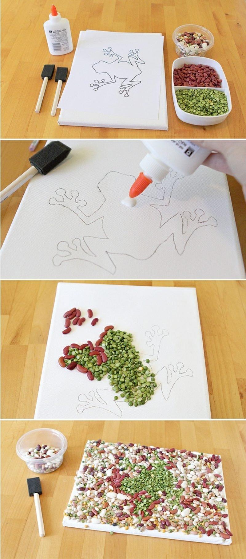 Herbstbasteln mit Kindern DIY Mosaik