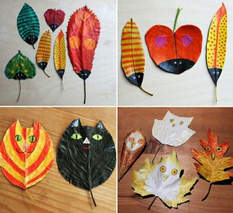 Herbstbasteln mit Kindern Naturmaterialien