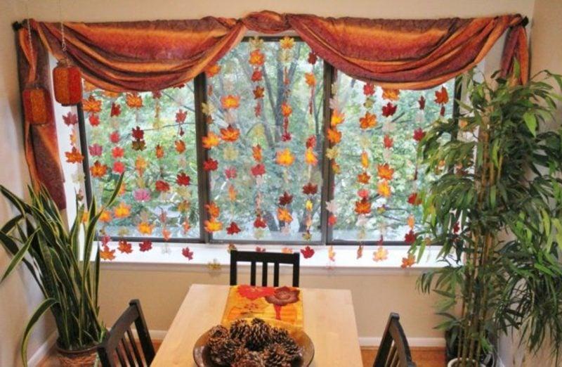 Herbstbasteln mit Kindern tolle Deko Essbereich