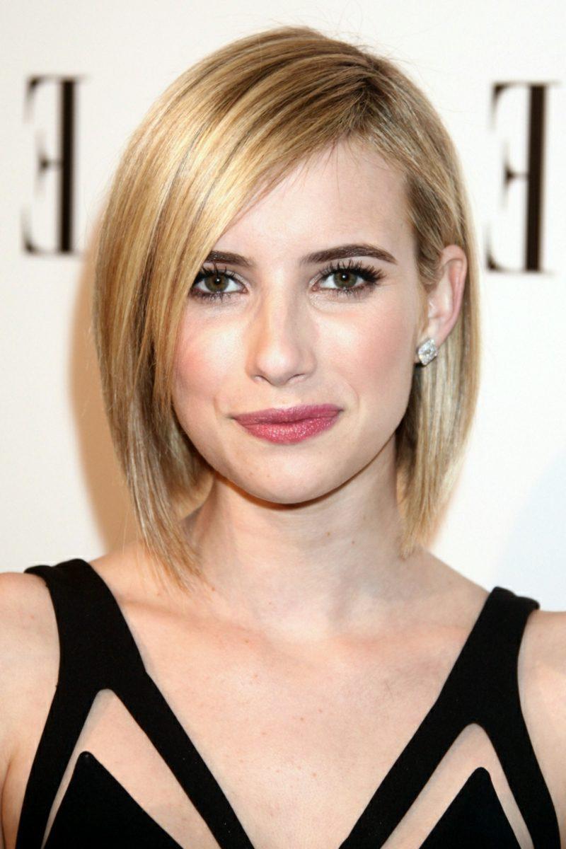 kurzer Bob asymmetrisch Emma Roberts