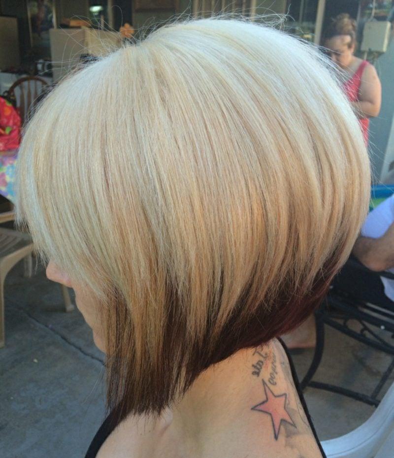kurzer Bob asymmetrisch dunkle Haarspitzen