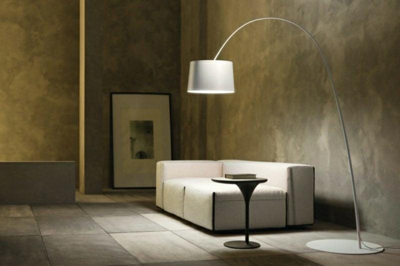 Stehlampen modern Bogenleuchte Wohnzimmer