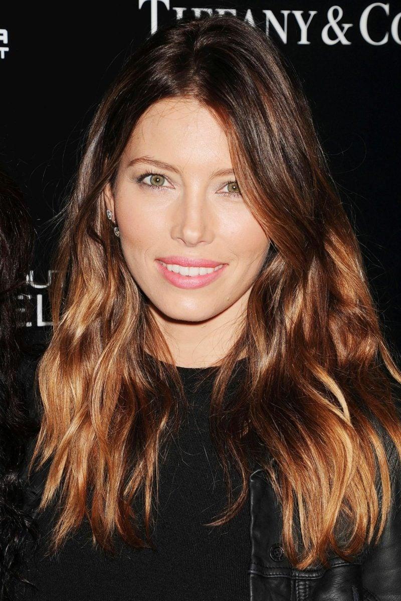 Ombre Braun Stars Jessica Biel
