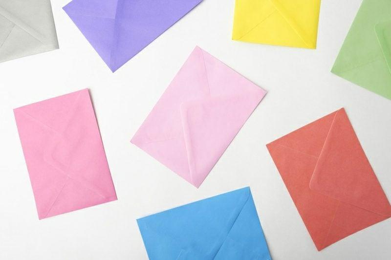 Einladung Kindergeburtstag Briefumschläge farbenfroh