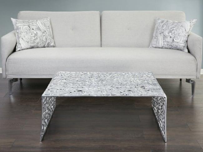 Couchtisch modern Aluminium Ornamente