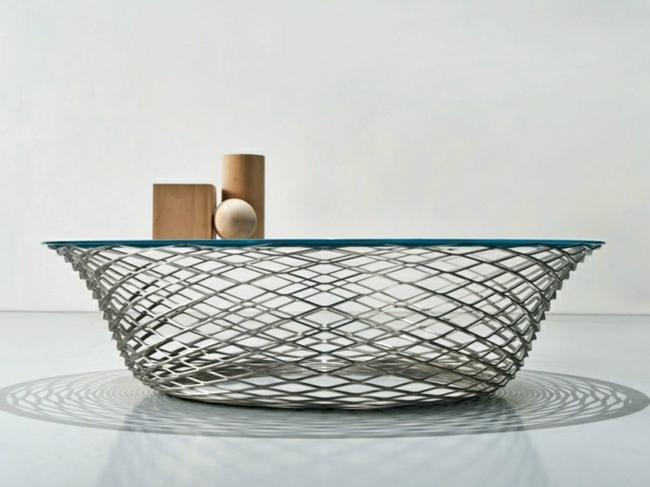 Couchtisch modern Gitter originelle Form
