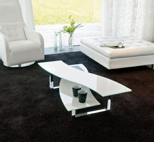Couchtisch modern mit zwei Tischplatten
