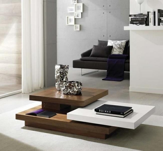Couchtisch modern Holz drei Teile herrlicher Look