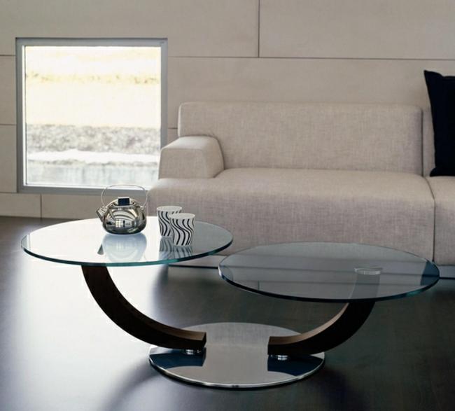 Couchtisch modern zwei Tischplatten