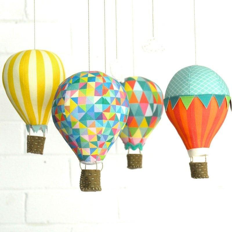 Heiβluftballon basteln kreative DIY Ideen