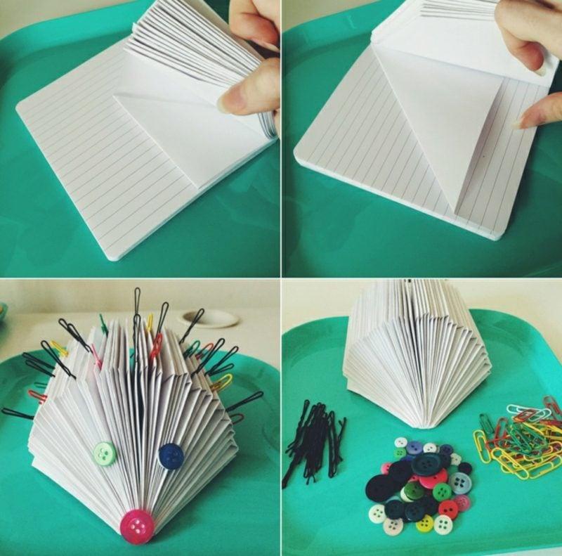 Igel basteln Buch falten kreativ