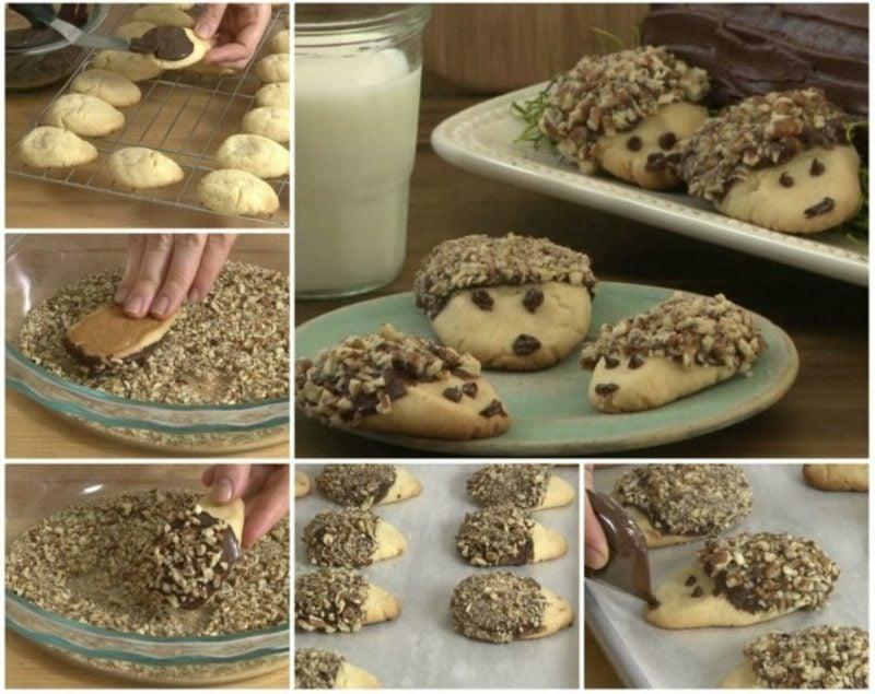 Igel basteln leckere kekse