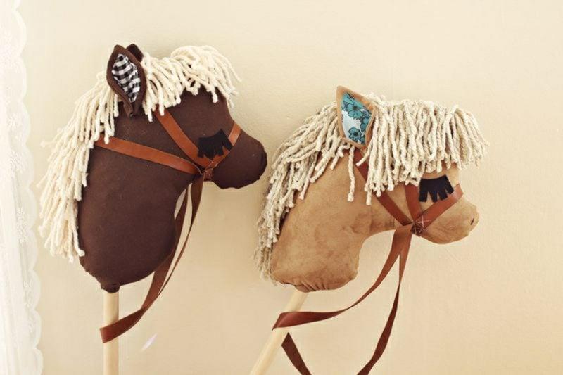 Steckenpferd basteln Pony Filz