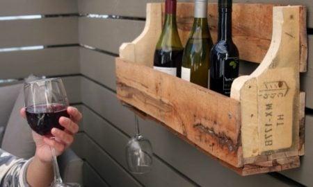Weinregal selber bauen praktisch Paletten
