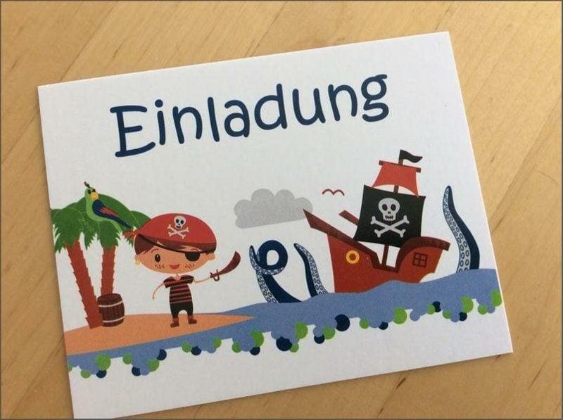 Einladung Kindergeburtstag Mottoparty Piraten