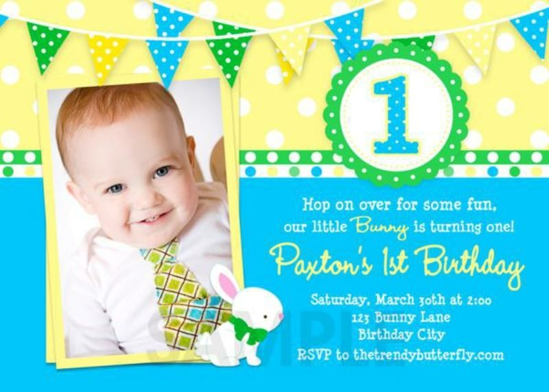 Einladung Kindergeburtstag Baby mit Foto originell