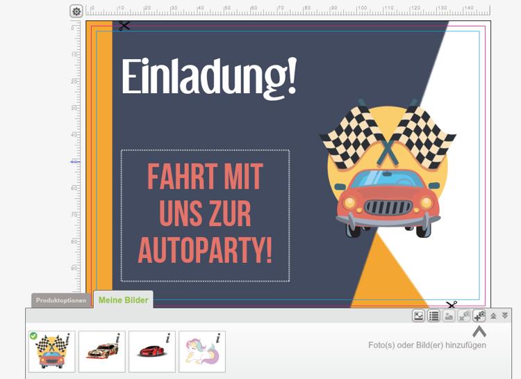 Einladung Kindergeburtstag Mottoparty Autorennen