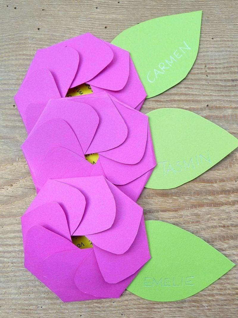 Einladung Kindergeburtstag Origami Blumen