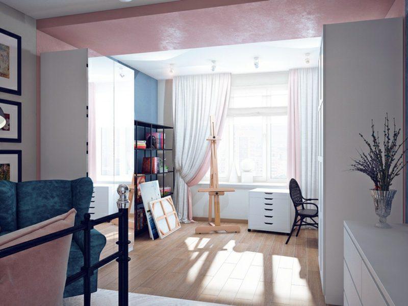 welche Farben passen zusammen rosa blau Interieur