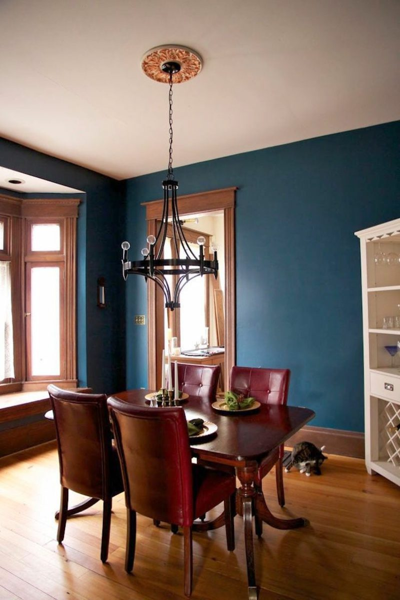 welche Farben passen zusammen farbkontraste Innendesign