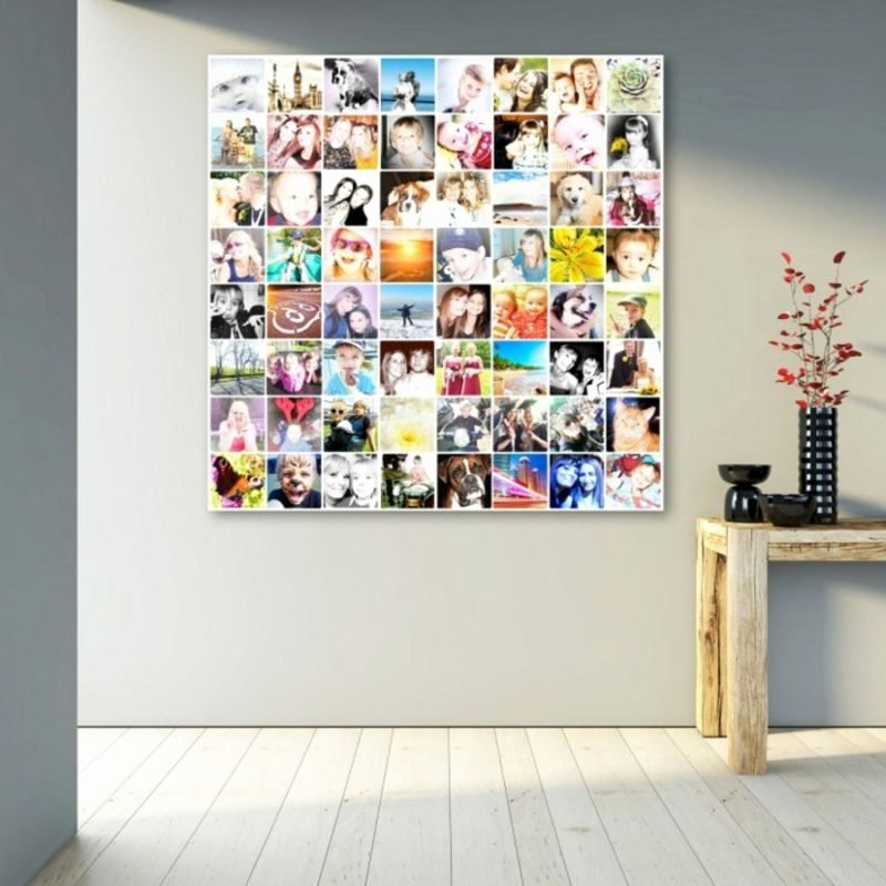 Fotowand gestalten ohne Bilderrahmen Akzent im Interieur