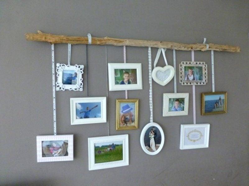 Fotowand gestalten ohne Bilderrahmen Bilder aufhängen ASst
