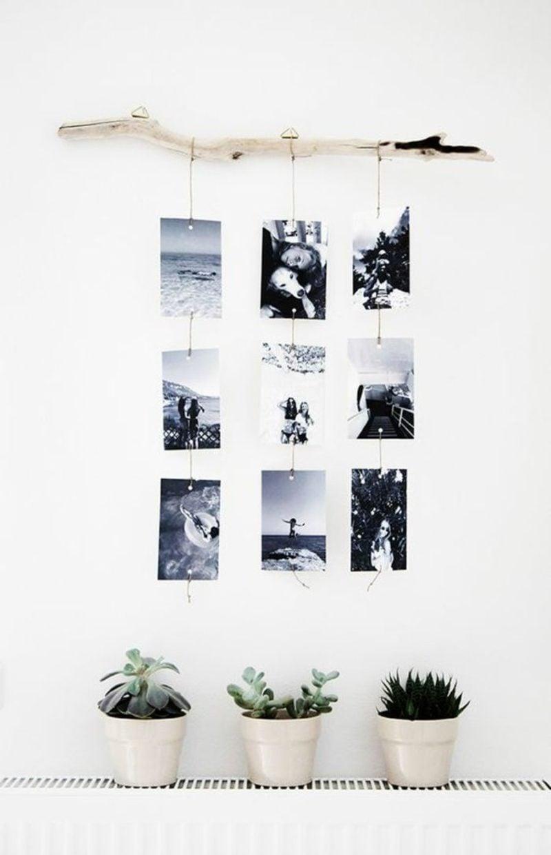 Fotowand gestalten ohne Bilderrahmen Ast