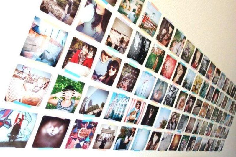 Fotowand gestalten ohne Bilderrahmen Dachschräge