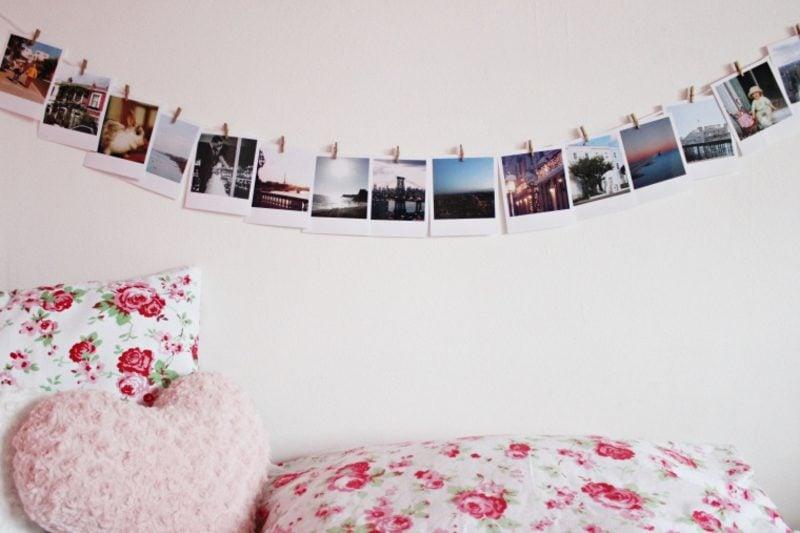 Fotowand gestalten ohne Bilderrahmen Ideen Schlafzimmer
